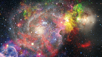 Colorful nebulas and stars in space. Elements of this image furnished by NASA.