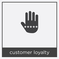 customer loyalty icon isolated on white background