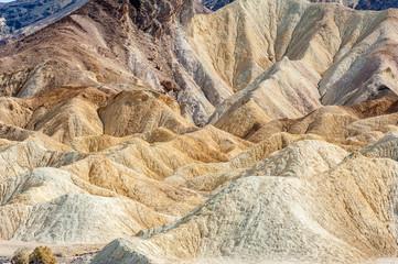 Erosional landscape of Zabriskie Point in Death Valley National Park, California, USA