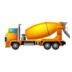 cement mixer truck illustration