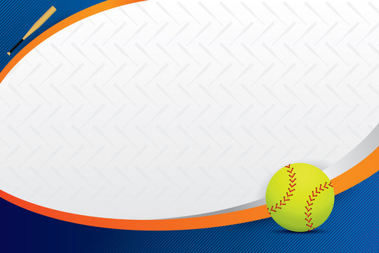 Softball design background. Vector illustration