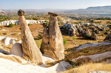 Foto op Canvas Turkije Unique rock formations near Urgup, symbol of Cappadocia, popular place in Turkey