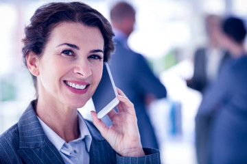 Businesswoman on a phone call