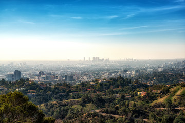 Downtown Los Angeles from Hollywood Hills