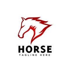 Fire head horse logo