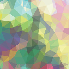 Low Polygon Pastel Background Rainbow Polygonal Texture Vivid Colorful Backdrop Geometric Technology Banner