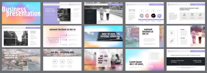 Colorful marketing or management concept infographics set