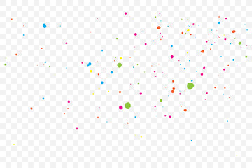 Colourful explosion of confetti. Grainy glitter and sprinkles. Abstract holiday illustration. Isolated on background. Abstract textured isolated on background. Vector.