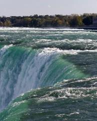 Postcard with a powerful Niagara waterfall