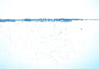 Close up water splash over white
