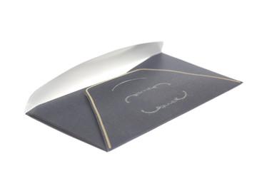 Black paper envelope