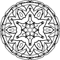 Contour drawing mandalas for coloring