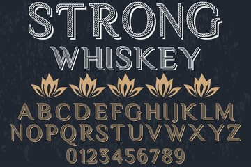 Font. Alphabet. Script. Typeface. Label. Modern  typeface. For labels and different type designs