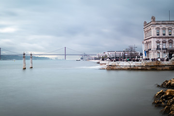 Cais das Colunas in Lisbon, Portugal