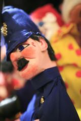 Fireman muppet in a theater