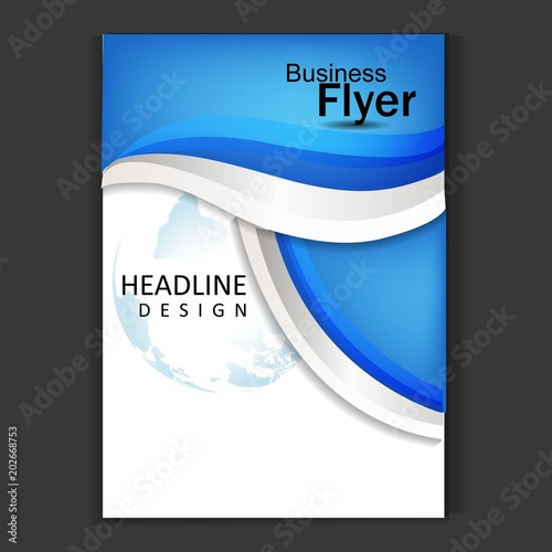 brochure template flyer design vector background fotolia com の