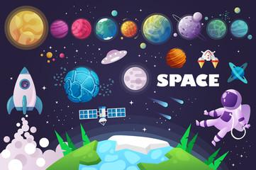 Fototapeta universe. space. space trip. design. vector illustration obraz