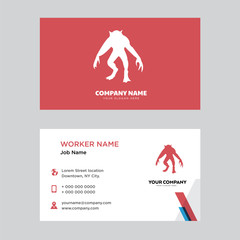werewolf business card design