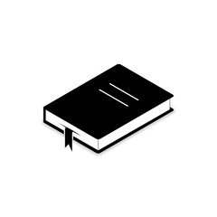 Book icon isometric, Vector flat symbol isolated on white