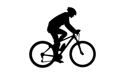 male vector images riding a mountain bike
