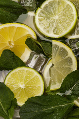 lime fresh ice lemon citrus
