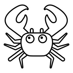 Crab icon. Outline illustration of crab vector icon for web