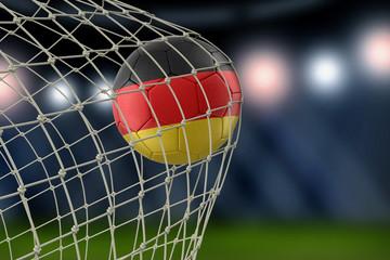 German soccerball in net