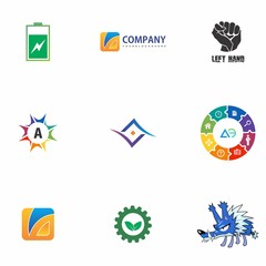 logo set design for education, application, company, and idea