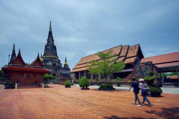 wat yai chai mongkol temple in ayutthaya heritage site thailand