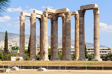 The Temple of Olympian Zeus, also known as the Olympieion, was one of the largest temples ever built in the ancient world - Athens, Greece