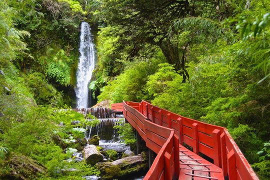 Natural hot springs of Termas Geometricas, Panguipulli, Los Ríos Region, Chile