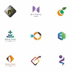 logo set design for education, application, company, and idea