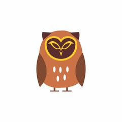 cute owl logo for mascot