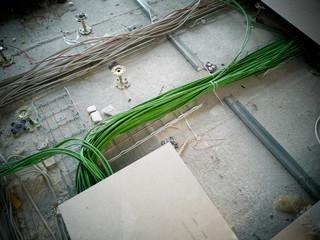 Computer-Kabel in Fussboden verlegen EDV