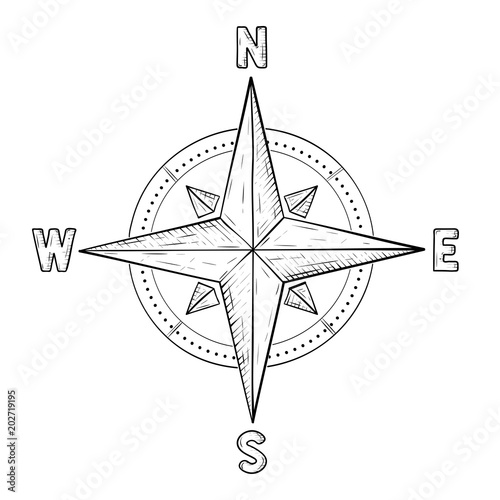 how to draw a compass rose in illustrator