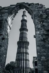 Qutub Minar framed inside a frame - Delhi