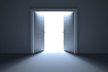 Bright open doors