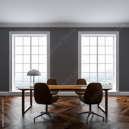 gray home office. Luxury Gray Home Office Interior