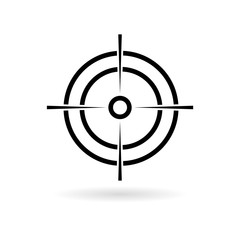 Hunting sight icon