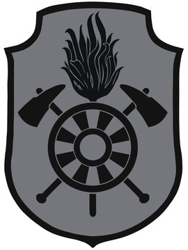 Feuerwehr Kragenabzeichen Kragenspiegel