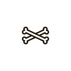 bone icon. sign design
