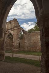 Interior stone monastery in Nuevalos, Zaragoza. Community of Aragon, Spain
