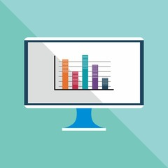 vector of monitor illustration with flat design