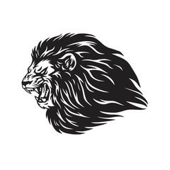 Fototapeta Lion Head Logo Vector Mascot