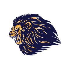 Fototapeta Angry Wild Lion Head Mascot