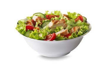Foto auf Leinwand Gericht bereit Chicken salad