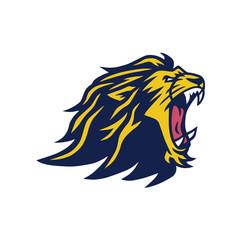 Fototapeta Angry Lion Head Mascot