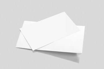 Blank White Envelope Mockup with a Invitation Card