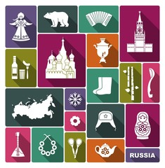 Russian icons. Vector Illustration