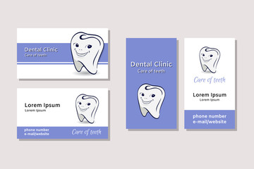 Business card templates for dental clinics